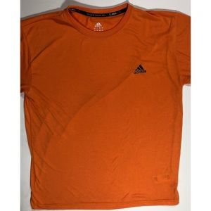 Adidas climalite shirt size Large orange and black